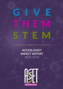 Report cover reading 'Give Them STEM'